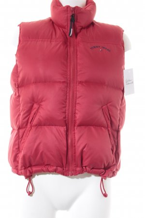 Tommy Jeans Donsvest rood casual uitstraling