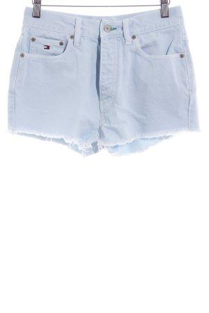 Tommy Jeans High-Waist-Shorts hellblau sportlicher Stil