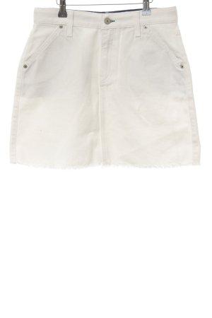 Tommy Jeans Jeansrock weiß schlichter Stil