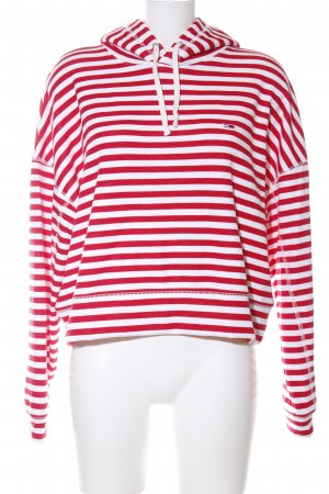 Tommy Jeans Hooded Sweater red-white allover print casual look