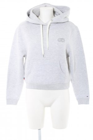Tommy Jeans Hooded Sweatshirt light grey flecked casual look