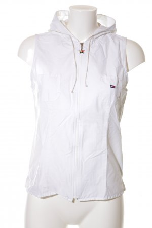 Tommy Jeans Chaleco con capucha blanco look casual