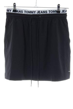 Tommy Jeans Minirock schwarz Schriftzug gedruckt Casual-Look
