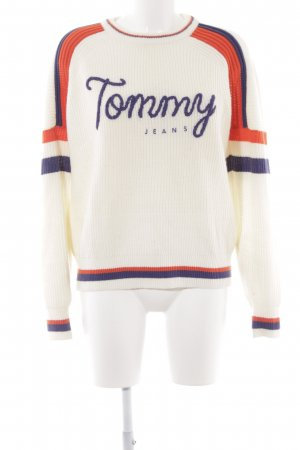 Tommy Jeans Rundhalspullover mehrfarbig College-Look