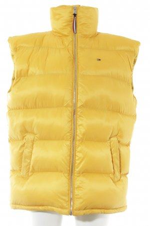 Tommy Jeans Quilted Gilet gold orange