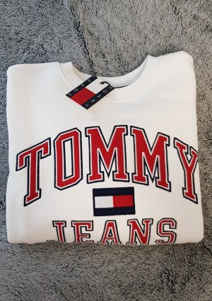 Tommy Jeans Sweatshirt S weiß 100% Baumwolle