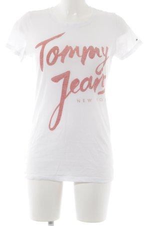 Tommy Jeans T-Shirt weiß schlichter Stil