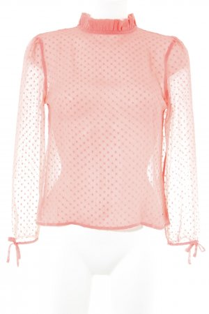 Tommy Jeans Transparenz-Bluse apricot Punktemuster Business-Look