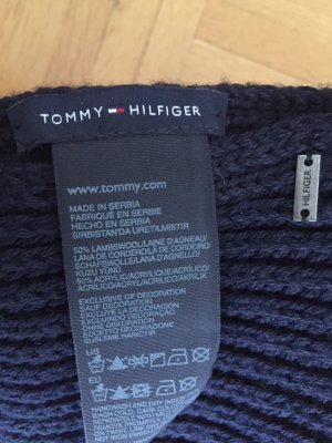 Tommy Hilfiger Tubesjaal donkerblauw