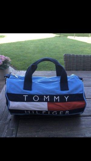 Tommy Hilfiger Sporttas neon blauw