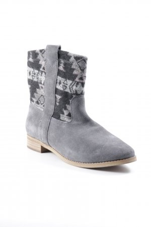 Toms Ankle Boots grau-schwarz Casual-Look