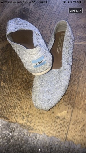 Toms Espadrille Sandals silver-colored