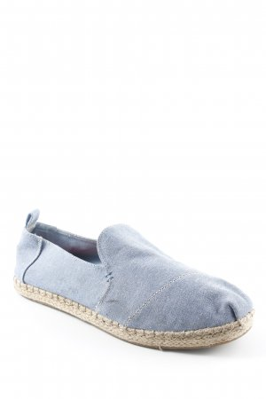 Toms Espadrilles-Sandalen beige-kornblumenblau Jeans-Optik