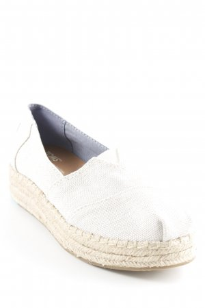 Toms Espadrille Sandals oatmeal-natural white simple style