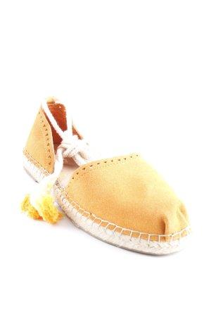 Toms Espadrille Sandals orange-cream beach look