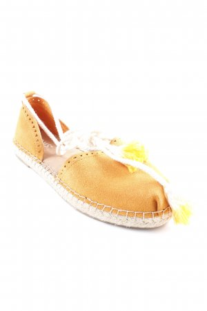 Toms Espadrilles-Sandalen orange-creme Beach-Look