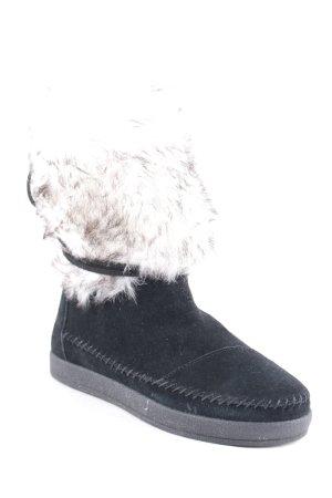 Toms Halbstiefel schwarz-wollweiß extravaganter Stil