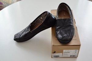 *TOMS * Original Schuhe Gr. 42,5 - Schwarz/Glitter; wenig getragen
