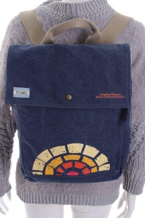Toms Rucksack blau Motivdruck sportlicher Stil