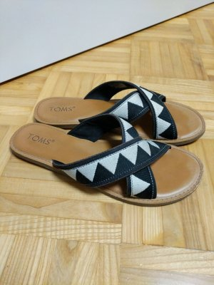 Toms High-Heeled Toe-Post Sandals multicolored