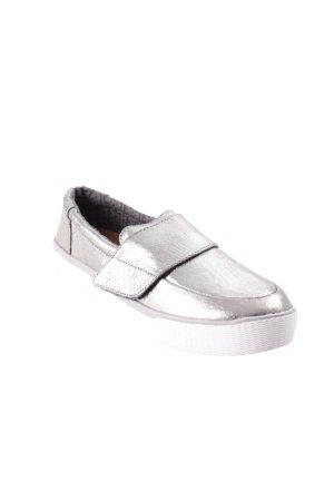 Toms Schlüpfsneaker silberfarben-weiß Glitzer-Optik