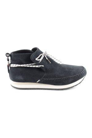 Toms Schnürschuhe schwarz Casual-Look