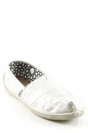 Toms Slippers silver-colored glittery