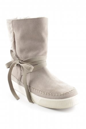 Toms Snow Boots oatmeal-beige fluffy