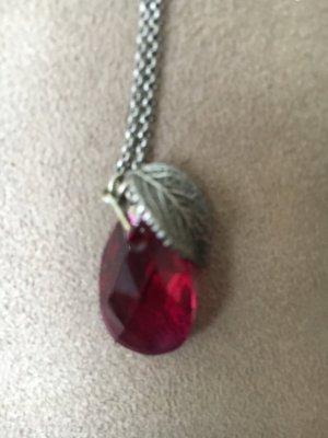 Tomshot Kette mit rotem Stein und Blatt