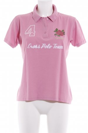 Tomster USA Polo-Shirt rosa Motivdruck Urban-Look