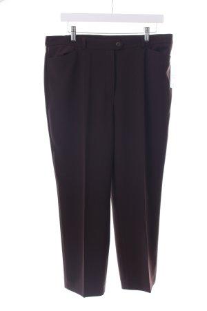 Toni Dress Stoffhose dunkelbraun schlichter Stil
