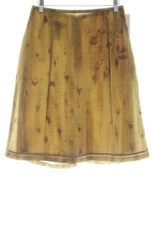 Toni Gard Jupe évasée brun sable-rouille motif de fleur style décontracté