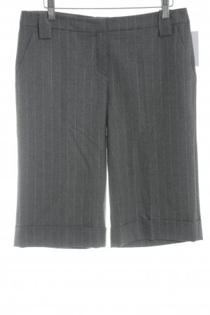Toni Gard High-Waist-Shorts grau-weiß Streifenmuster Business-Look