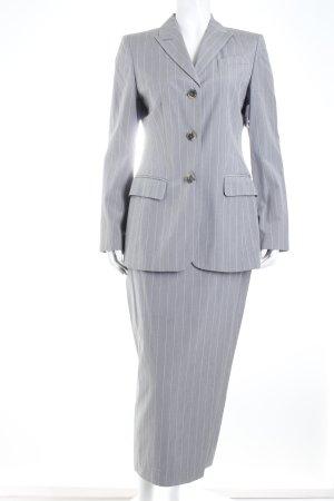 Toni Gard Kostüm hellgrau-weiß Nadelstreifen