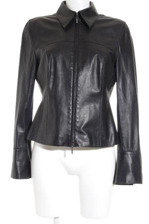 Toni Gard Lederjacke schwarz schlichter Stil