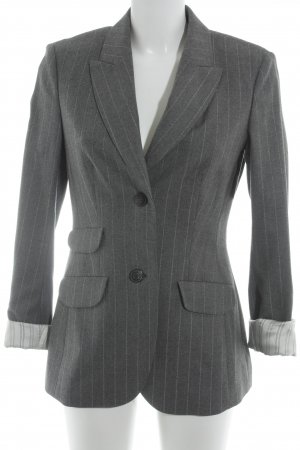 Toni Gard Long-Blazer grau-weiß Streifenmuster Business-Look