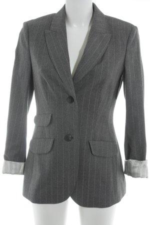 Toni Gard Blazer largo gris-blanco estampado a rayas estilo «business»