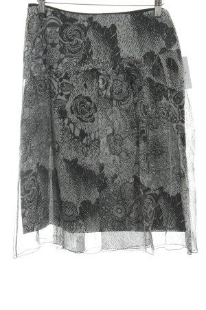 Toni Gard Minirock hellgrau-schwarz abstraktes Muster Casual-Look