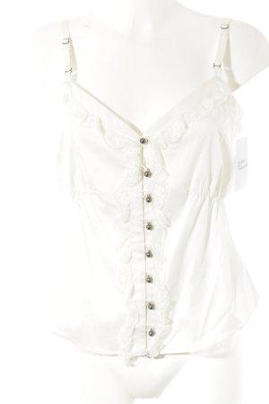 Toni Gard Top con bretelline bianco stile casual