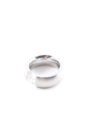 Toni Gard Bague incrustée de pierres argenté style d'affaires