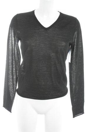 Toni Gard Camisa tejida negro look casual
