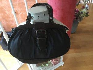 Toni Gard verspielte Handtasche in schwarz, in Beutelform mit kurzen Henkeln
