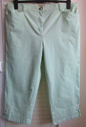 TONI Jeans Damen Capri Hose Comfort Slim CS - Gr. 48 Normal/regular -  hellgrün grün mint