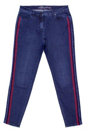 Toni Jeans mit seitlichen roten Streifen blau Größe 40
