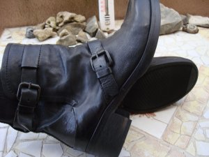 Western Booties black-anthracite leather