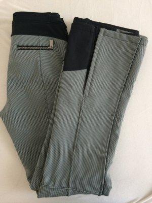 Pantalón de esquí negro-blanco tejido mezclado