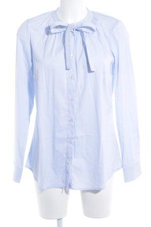 tonno & panna Blouse avec noeuds bleu azur élégant