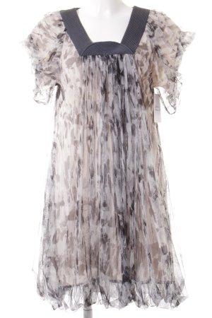 Tony Cohen Minikleid hellbeige-graubraun Animalmuster Elegant