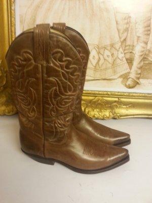 Tony Mora Western - Cowboy Stiefel Gr. 39 in braun/schlamm