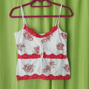 John F. Gee Bustier Top white-brick red